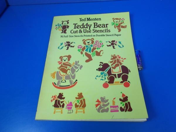1983年 Teddy Bear Cut&Use Stencils Ted Menten_画像1
