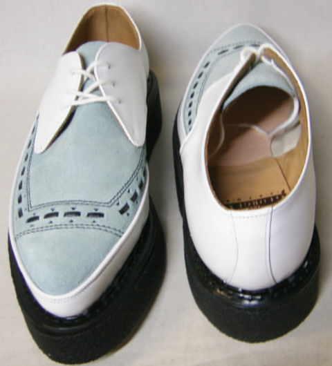 ジョージコックスGeorgeCox パンク ロック トンガリ靴3705白アイスuk9_画像1