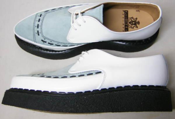 ジョージコックスGeorgeCox パンク ロック トンガリ靴3705白アイスuk9_画像3