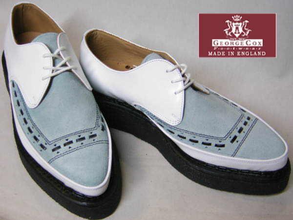 ジョージコックスGeorgeCox パンク ロック トンガリ靴3705白アイスuk9_画像2
