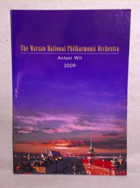 A-2【パンフ】ワルシャワ国立フィルハーモニー管弦楽団 2009年