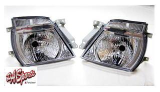 E25系 キャラバン タイプ クリスタルヘッドライト 左右セット!_画像1