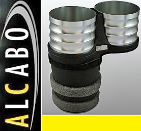 【M's】ボルボ S60 V60 XC60 X70 XC70 S80 ALCABO ドリンクホルダー(シルバー)//アルカボ カップホルダー アルミ VOLVO AL-B107S_画像1