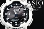 1円×10本新品美しすぎるWhite/CASIOカシオSOLARアナデジ腕時計