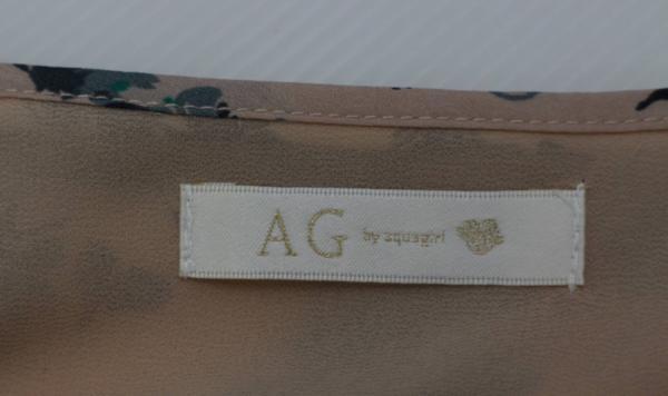 AG by aquagirl ワンピース M 花柄 ピンク レディース_画像3