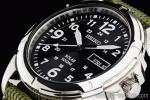 1円 セイコー 逆輸入 ソーラー パワー 日本未発売 ブラックフェイス ミリタリー 腕時計