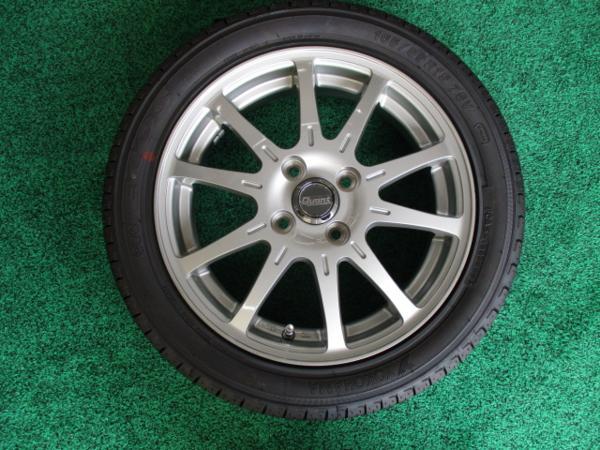 未使用タイヤホイールセット 国産ヨコハマ 165/55R15インチ 4H 4穴 PCD100 4本税込 タントカスタム スペーシア ムーヴ ekワゴン キャスト