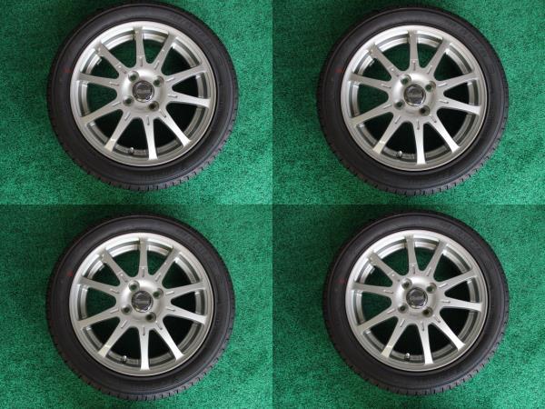 未使用タイヤホイールセット 国産ヨコハマ 165/55R15インチ 4H 4穴 PCD100 4本税込 タントカスタム スペーシア ムーヴ ekワゴン キャスト_画像3