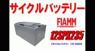 大容量電源確保等にディープサイクルバッテリーFIAMM 12
