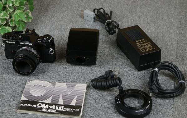 【オリンパス OLYMPUS】フィルム一眼レフカメラ OM-4Ti リングフラッシュT10付き [ジャンク]_画像2