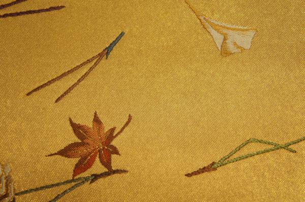 超特選『山口伊太郎』本金箔錦地吹寄せ模様未着用袋帯[O8508]_『山口伊太郎』本金箔錦地吹寄せ模様袋帯