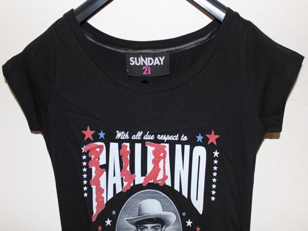 SUNDAY21 レディースオーバー半袖Tシャツ ブラック Sサイズ イタリア製 新品_画像2