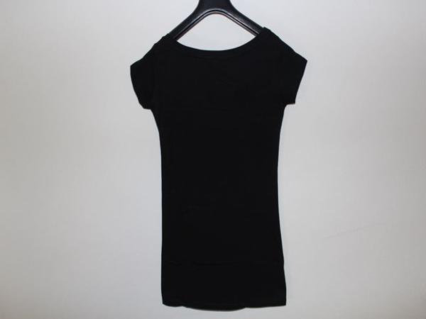 SUNDAY21 レディースオーバー半袖Tシャツ ブラック Sサイズ イタリア製 新品_画像5