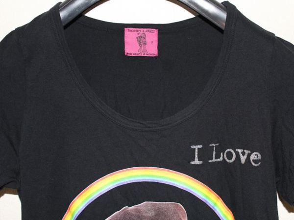 ロックスターズエンジェルス Rockstars&Angels レディース半袖Tシャツ XSサイズ NO21 新品 黒_画像2