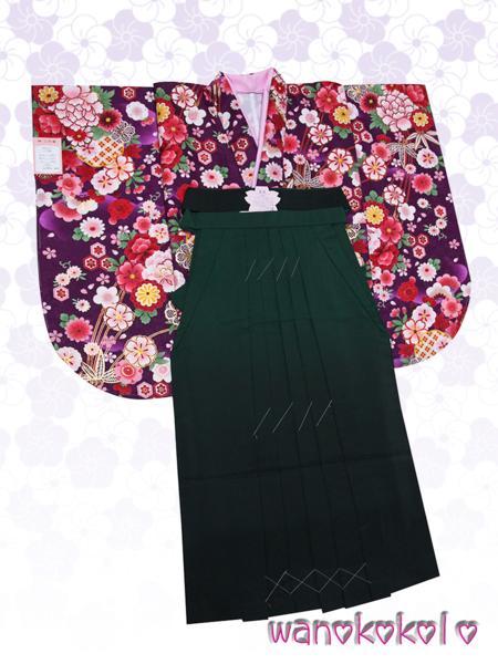 【和のこころキッズ】二尺袖着物・袴セット◇小学校卒業式◇1_画像1