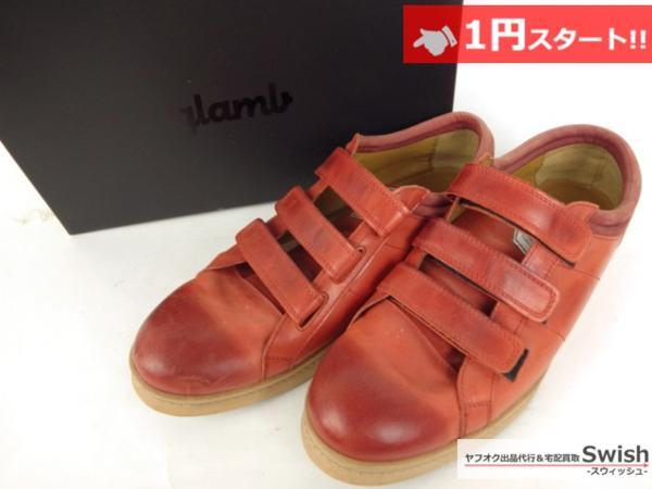 A501●glamb グラム●Canon sneakers Ⅱ ベルクロ レザースニーカー 3 赤●