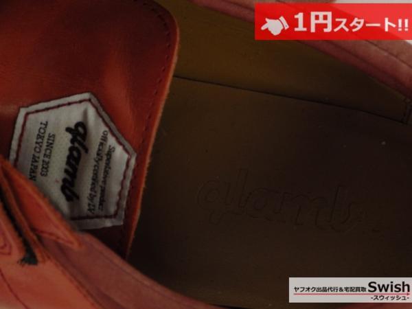 A501●glamb グラム●Canon sneakers Ⅱ ベルクロ レザースニーカー 3 赤●_画像5