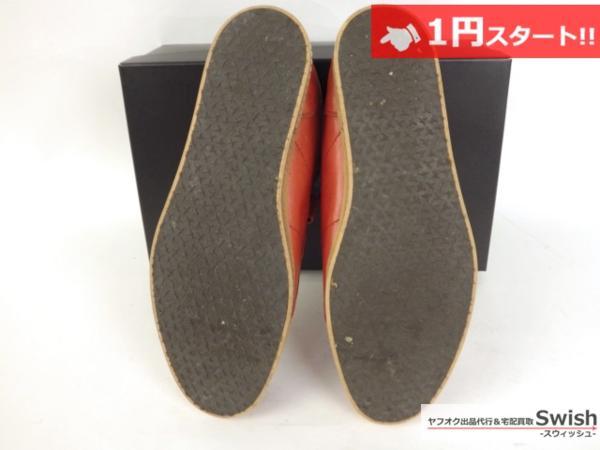A501●glamb グラム●Canon sneakers Ⅱ ベルクロ レザースニーカー 3 赤●_画像6