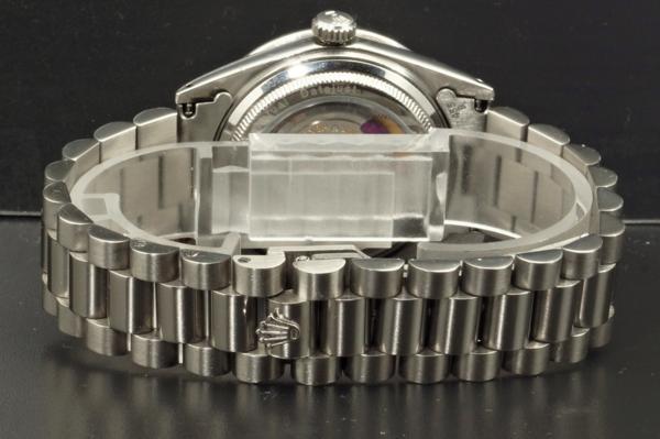 ロレックス デイトジャスト 1601 鑑定書付 アイスブルー 8+2Pバケットダイヤ 50Pダイヤベゼル シースルーバック ROLEX DATEJUST R0096_画像5