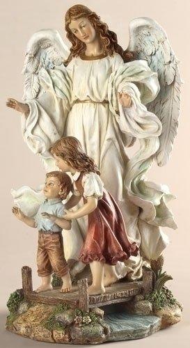 最初の聖体拝領で祈りの女の子 を守る 天使、高さ 約18cm 彫像 彫刻/ Classic Guardian Angel Figurine(輸入品_画像1