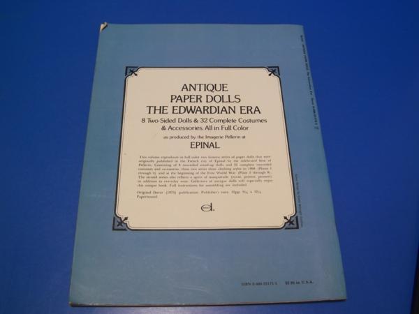 1975年 ANTIQUE PAPER DOLLS THE EWARDIAN ERA_画像2