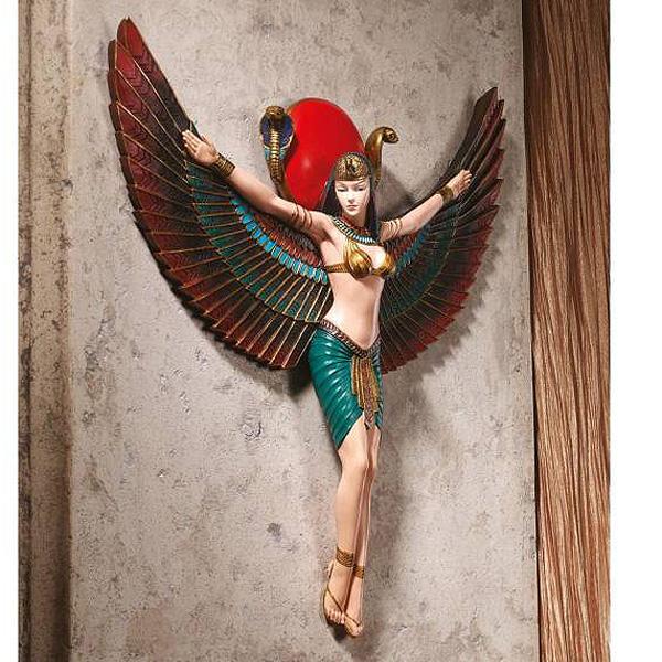 古代エジプト 愛と情熱のイシス神 壁彫刻 彫像 彫像/ Goddess Isis Wall Sculpture[輸入品_画像1