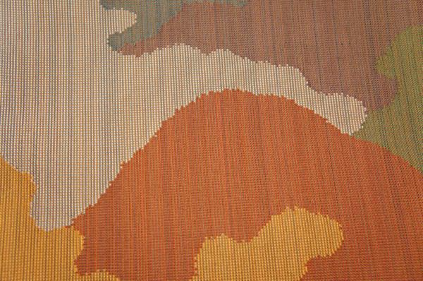 特選茶色糸地紫紘謹製織成組織山並模様本袋帯[O9795]_茶色糸地紫紘謹製織成組織山並模様本袋帯