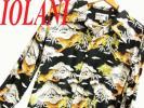 ○美品 正規品○イオラニ アロハシャツ IOLANI 長袖シャツ ブラック 黒色 虎柄 和柄 メンズ Lサイズ 秋物 レーヨン100% 大人気 富士山