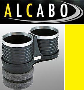 【M's】VW ニュービートル(1998y-2010y)/ポロ 6R 5代目 リア用(2009y-)ALCABO 高級 ドリンクホルダー(BK+リング)//アルカボ AL-B109BS_画像1