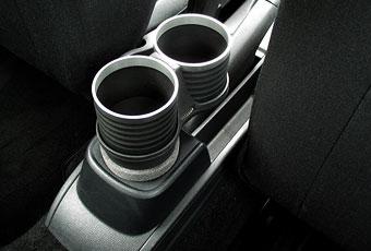 【M's】VW ニュービートル(1998y-2010y)/ポロ 6R 5代目 リア用(2009y-)ALCABO 高級 ドリンクホルダー(BK+リング)//アルカボ AL-B109BS_※画像はブラック+リングの取付けサンプル