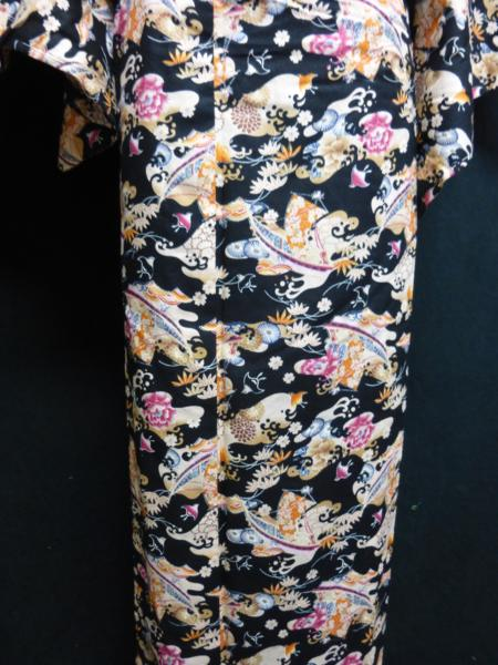 ☆オリジナル製レトロ木綿着物(ゆかた)+帯セット現品限り④_丁寧に仕立てています