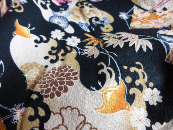 ☆オリジナル製レトロ木綿着物(ゆかた)+帯セット現品限り④_画像8