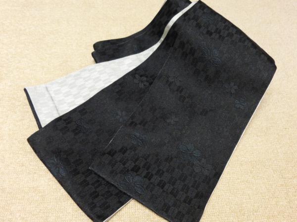 ☆オリジナル製レトロ木綿着物(ゆかた)+帯セット現品限り④_高級素材使用 西陣製半幅小袋帯