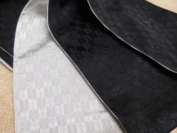 ☆オリジナル製レトロ木綿着物(ゆかた)+帯セット現品限り④_矢絣地紋に桜