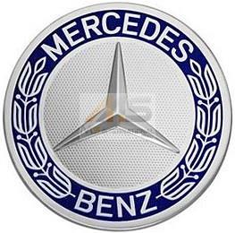 【M's】ベンツ AMG 純正品 ホイールセンターキャップ 1個 ブルー/青(74mm)W126 W140 W220 W221 W215 W216 R129 R230 W638 W639_画像1