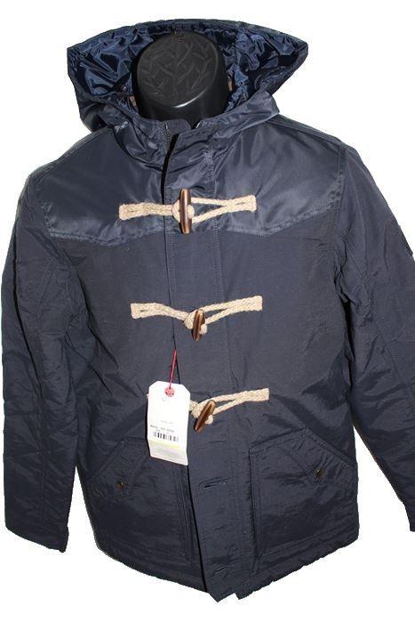 リプレイ REPLAY メンズジャケット アウター ダッフル ネイビー Sサイズ 新品_画像1