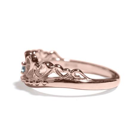 3月の誕生石 アクアマリン シルバーアクセサリー 純銀 シルバー925 リング 指輪 ティアラ レディース 誕生日 プレゼント ギフト BOX付_画像2