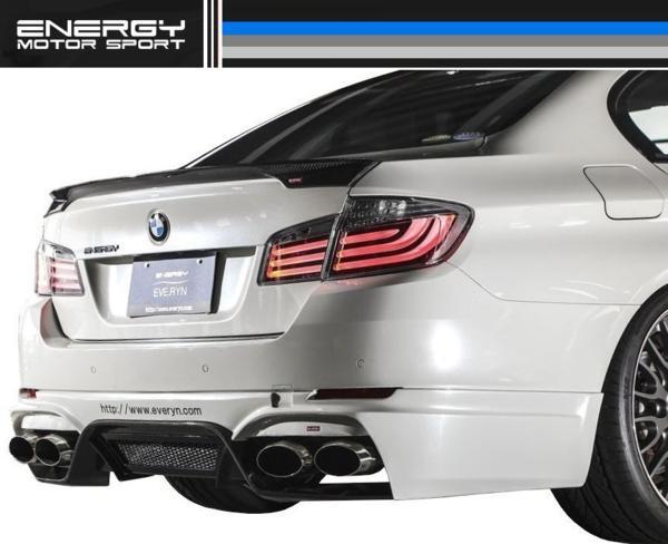 【M's】 BMW 5シリーズ セダン ENERGY トランク スポイラー FRP_画像6