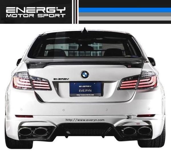 【M's】 BMW 5シリーズ セダン ENERGY トランク スポイラー FRP_画像5