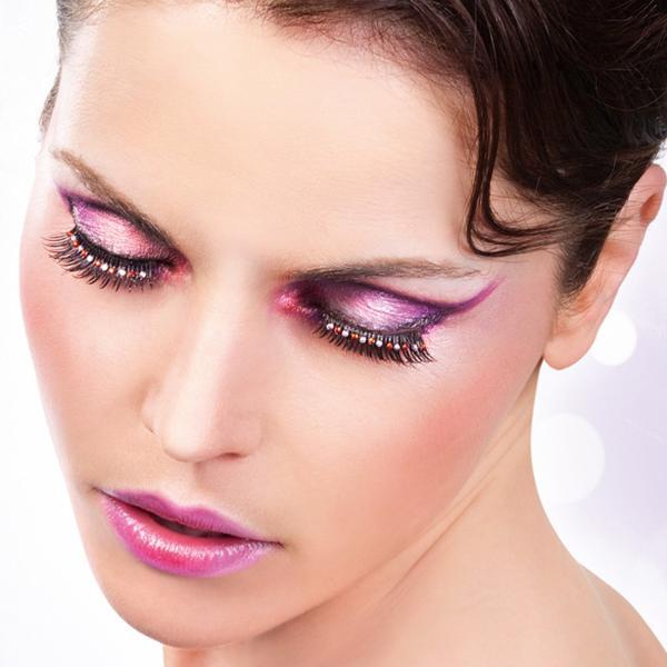 rhinestone. sexy eyelashes extensions ruby * white