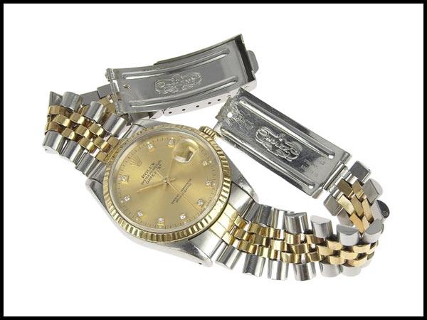 091円☆03楽市☆本物 ロレックス ROLEX デイトジャスト 16233G X番台 メンズ オートマ 腕時計 16233G_画像2