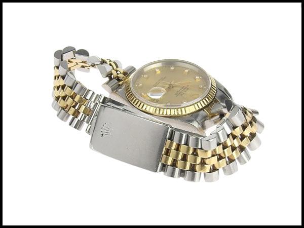 091円☆03楽市☆本物 ロレックス ROLEX デイトジャスト 16233G X番台 メンズ オートマ 腕時計 16233G_画像5