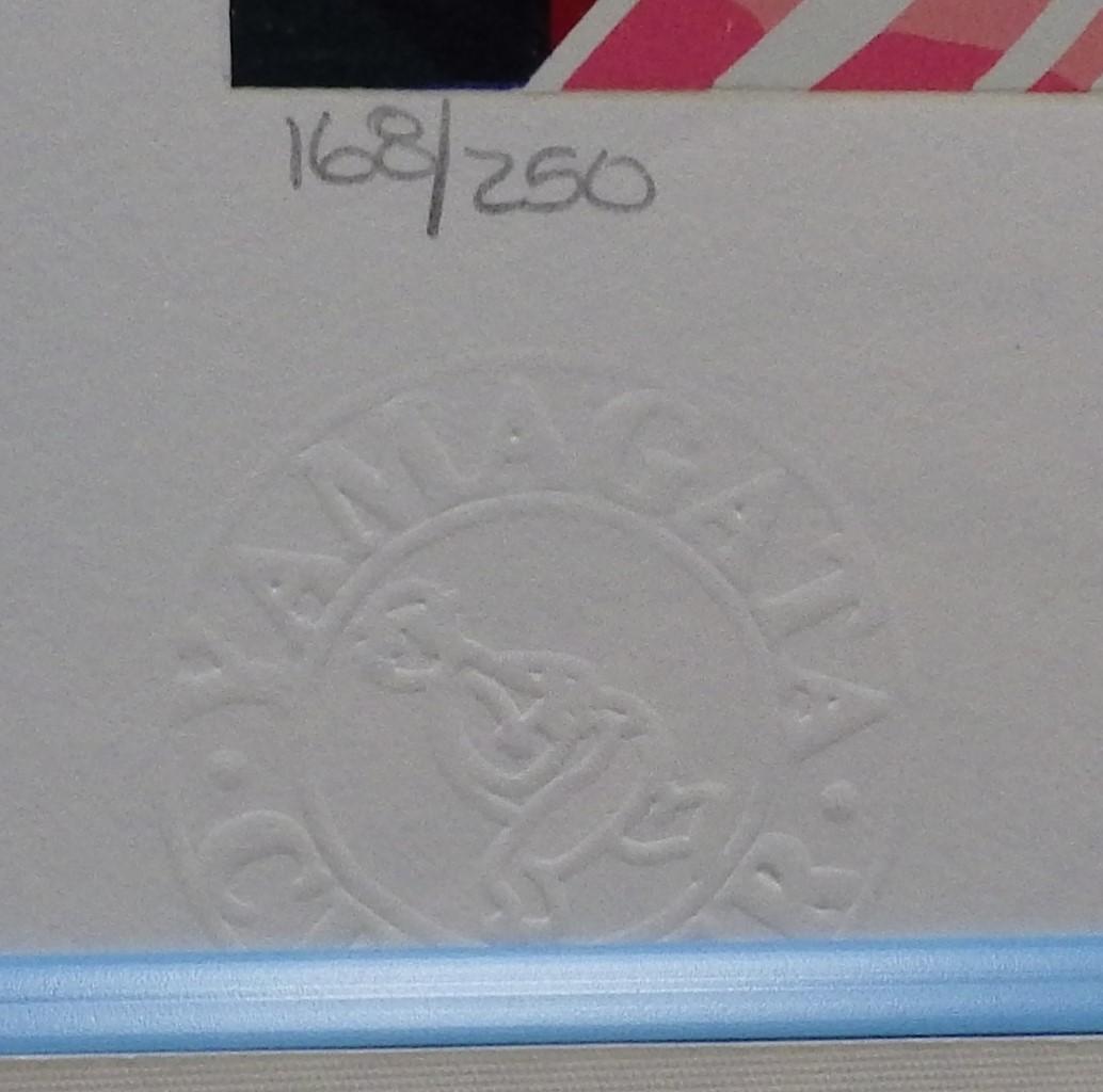 【!注目作品!】 ヒロ・ヤマガタ 『小さな花屋』 シルクスクリーン 168/250 1986年作(原画)  【!送料無料!】_エンボス加工あります。