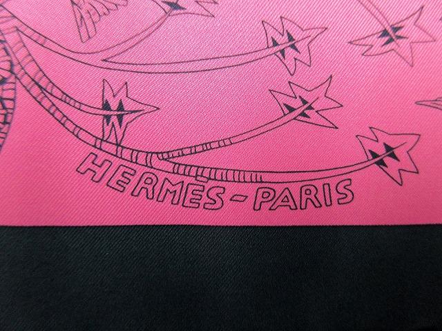 未使用 エルメス ■ シルク100% スカーフ Les Legendes de l'Abre 木の伝説 パープル レッド カレ90 箱付 HERMES(45717B_画像3