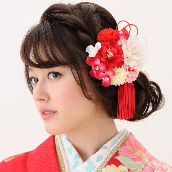 髪飾り 3点セット 手染め加工 はなまい新品 (株)安田屋_画像2
