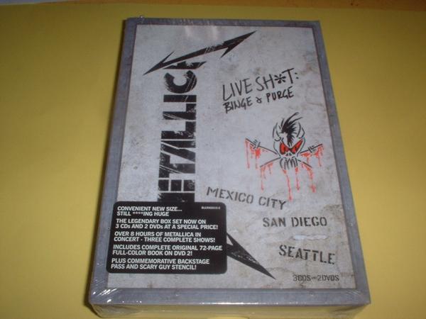 メタリカ METALLICA /Live Shit: Binge & Purge[US輸入2DVD+3CD] ライブグッズの画像