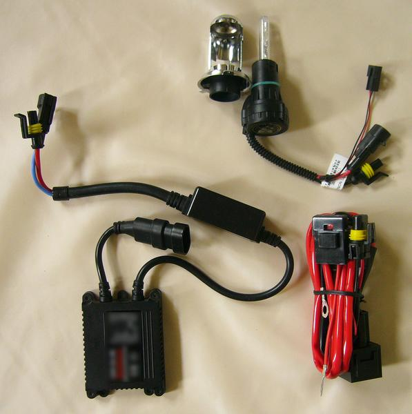 HIDキット2 12V 35W 6000K H4 Hi/Lo スライド式-1RB-新品-