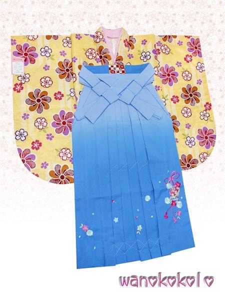 【和のこころキッズ】二尺袖着物・袴セット◇小学校卒業式◇D-7_画像1
