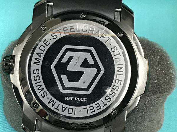 極美品■STEEL CRAFT SCカラーコンセプト ジェントルマン クロノグラフ クォーツ定価6.6万スイス正規アウトレットW1_画像4