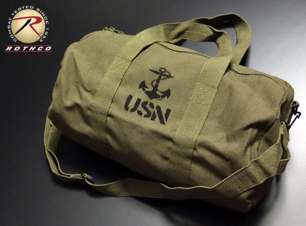 ボストンバッグ メンズ 2WAY ショルダー ROTHCO ロスコ ブランド USN アンカー 錨 / オリーブ_画像1